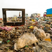 Life Frames|||A worker collecting plastic from waste dumping point at Ashulia,Dhaka,Bangladesh